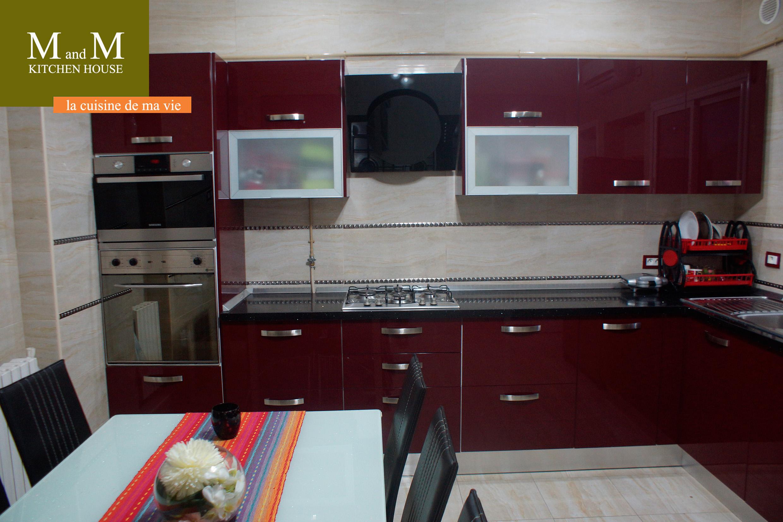 Cuisine Encastrable Rouge Et Beige Meubles Et Decoration Tunisie