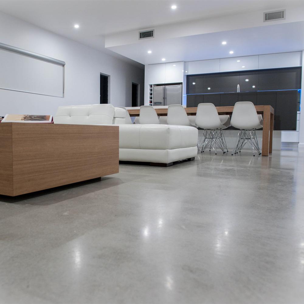 Entretien sol beton poli