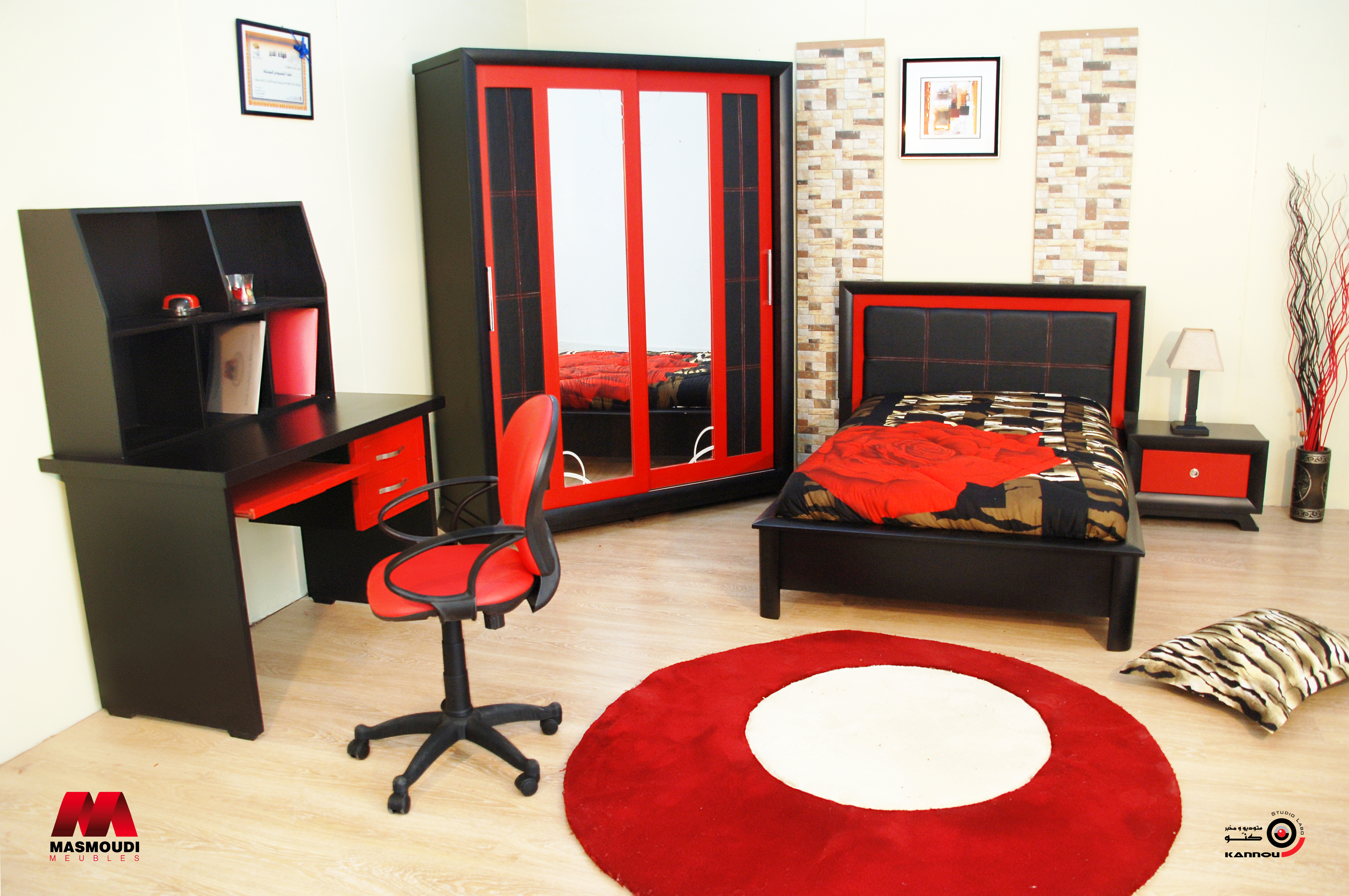 Chambre avec bureau ado
