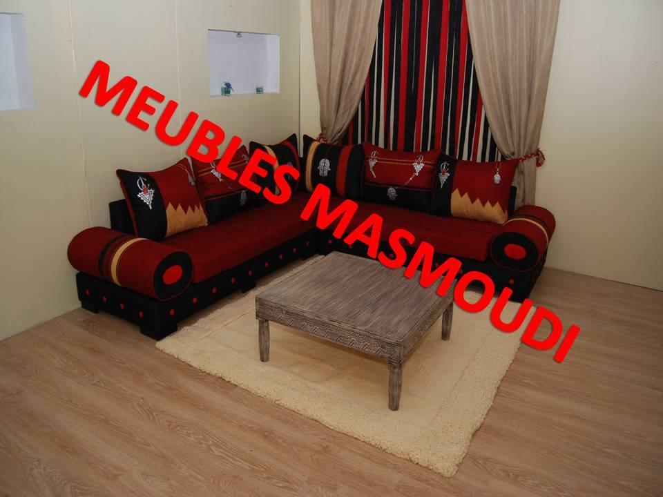 SÉJOUR RAYHANA NOIR ET ROUGE - Meubles et décoration Tunisie