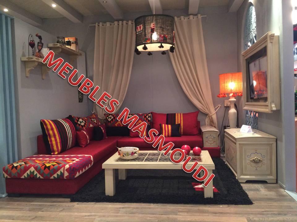 S jour amazigh rouge meubles et d coration tunisie for Meuble aperitif salon