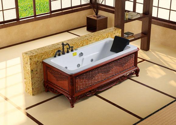 Baignoire baln o jacuzzi impression meubles et for Meuble salle de bain tunisie