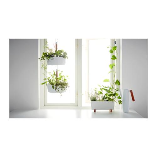 Jardini re suspendue blanc meubles et d coration tunisie - Jardiniere pvc blanc ...