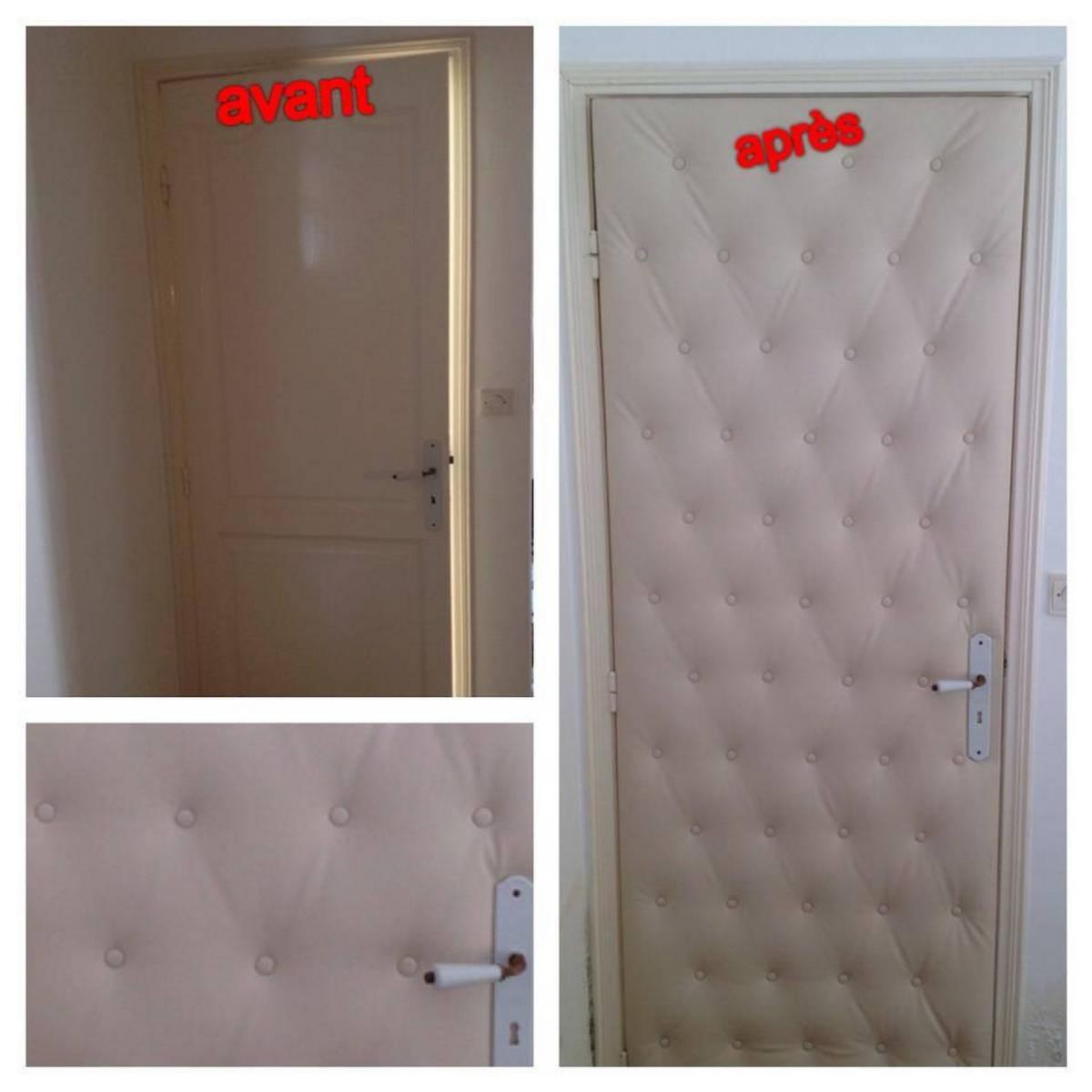 Capitonnage des portes meubles et d coration tunisie for Recouvrir porte interieure
