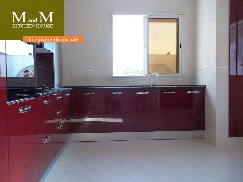 cuisine encastrable rouge bordeau meubles et d233coration