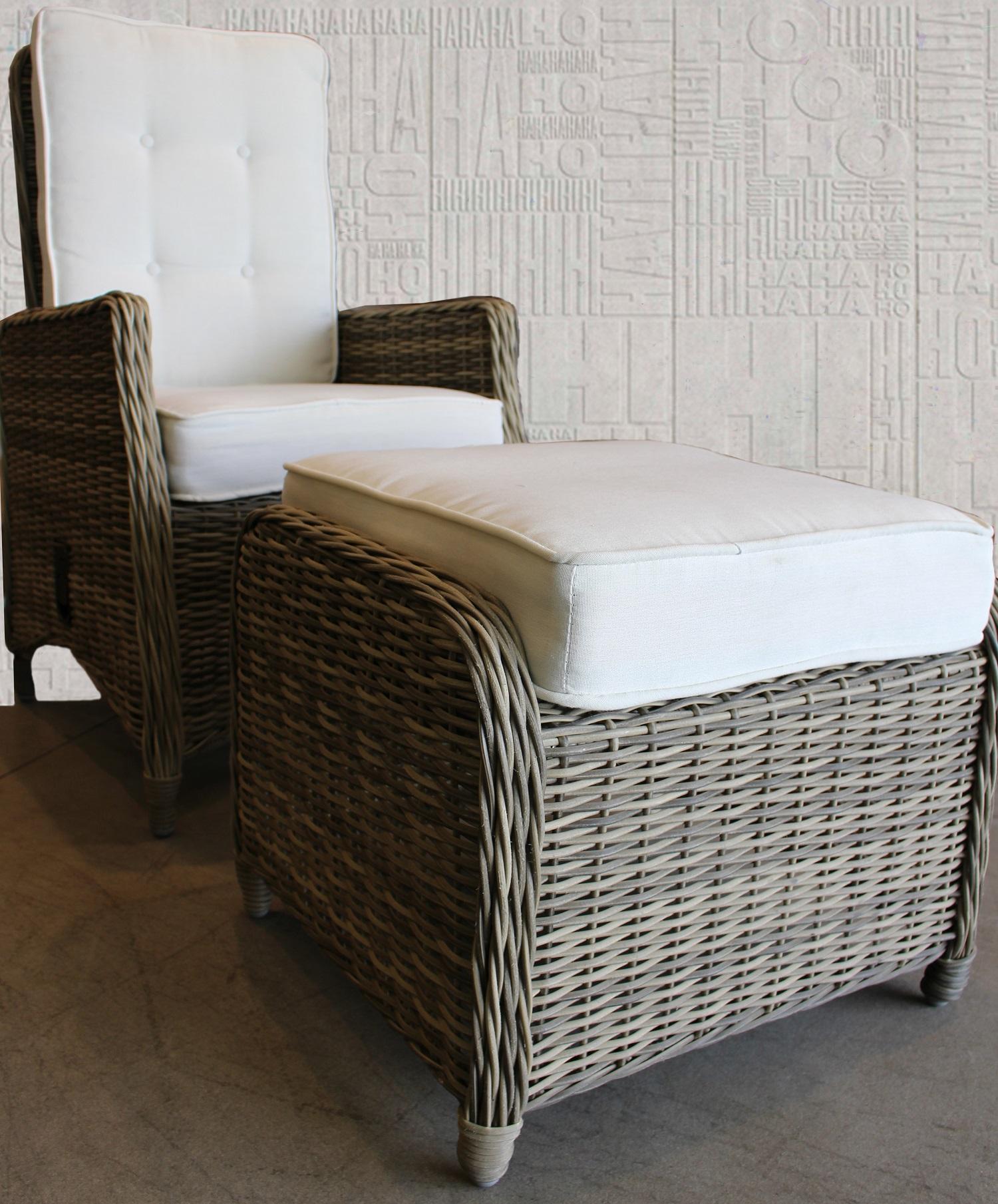 Fauteuil en fibre synth tique avec reposes pieds meubles for Deco meuble tunisie