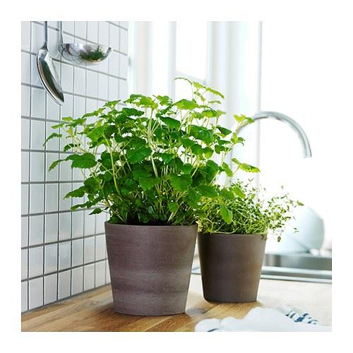 Cache pot gris brun int rieur ext rieur gris brun for Cache pot interieur
