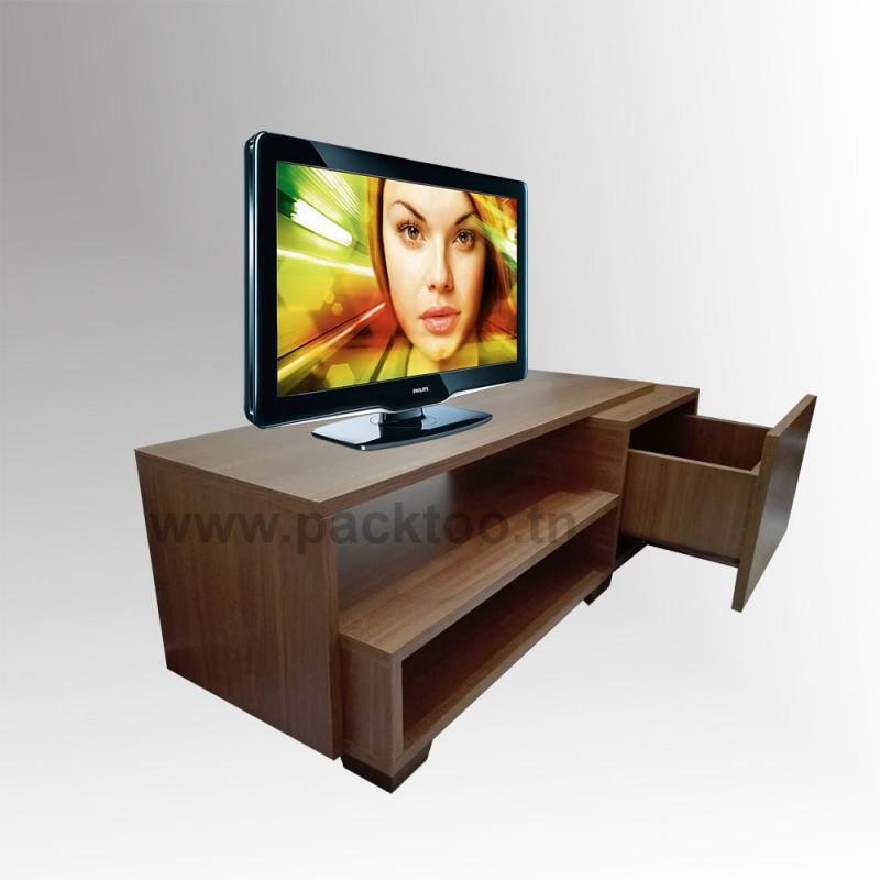 Meuble tv avec tiroir casa meubles et d coration tunisie for Meuble tv zebra