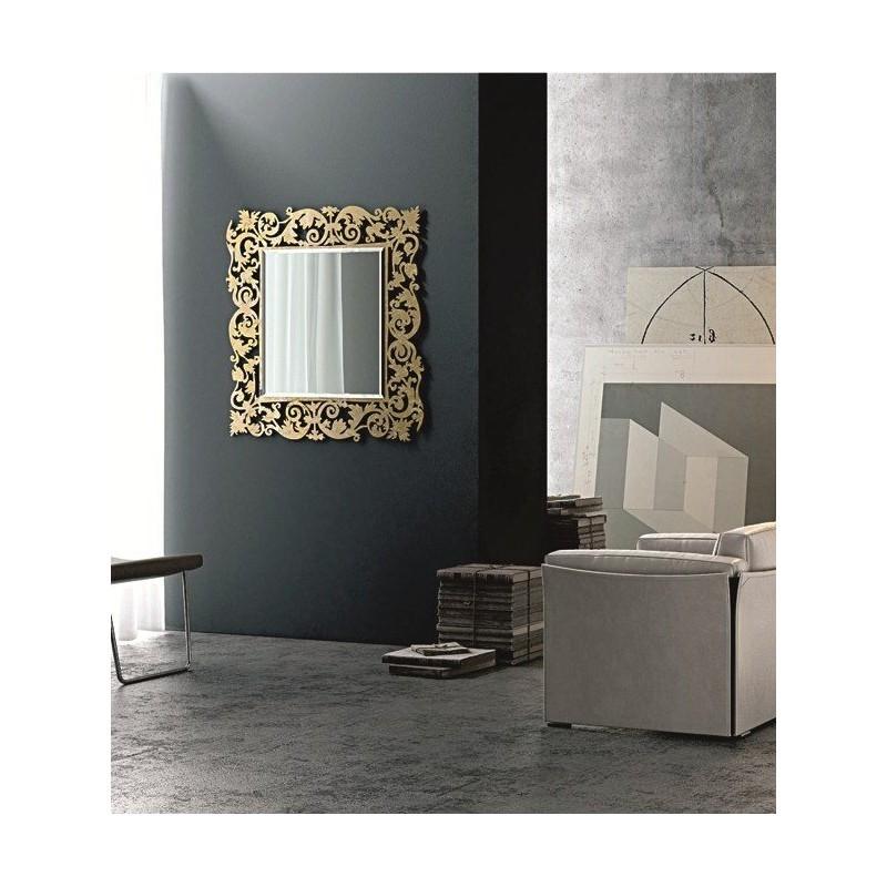 Miroir baroque carr meubles et d coration tunisie for Miroir design tunisie