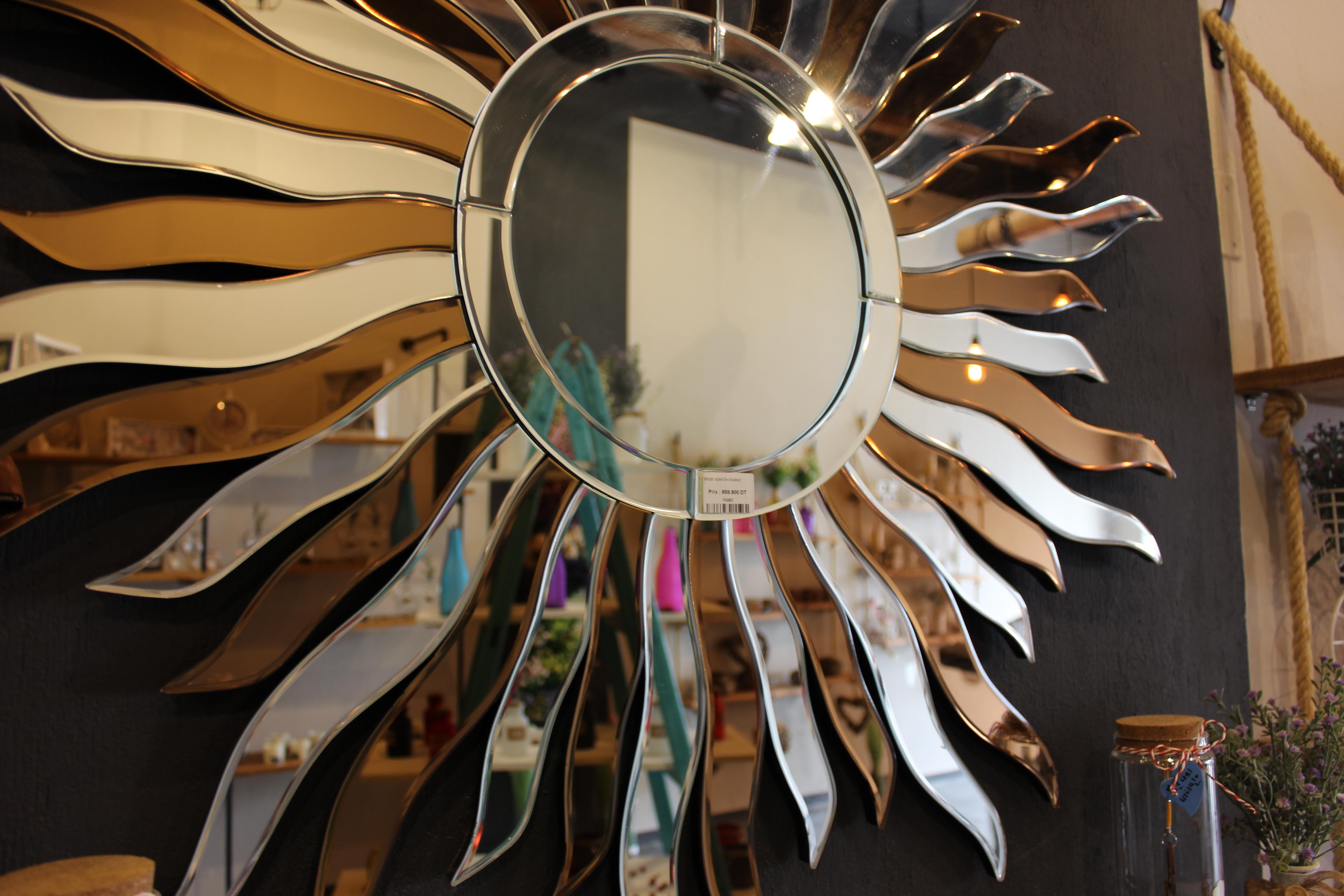 Miroir soleil meubles et d coration tunisie for Miroir tunisien