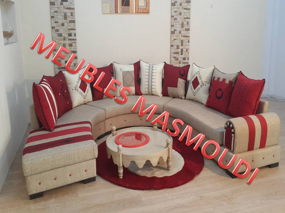 moderne baroque un salon moderne en rouge et noir salons design - Salon Moderne Design Tunisie