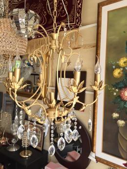 lustre fer forg 6 1 meubles et d coration tunisie. Black Bedroom Furniture Sets. Home Design Ideas