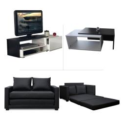 Pack living room (meuble tv + canapé-lit + table basse) - Meubles et décoration en Tunisie