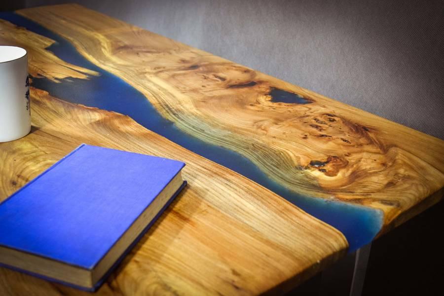 Table rivière en bois massif meubles et décoration tunisie