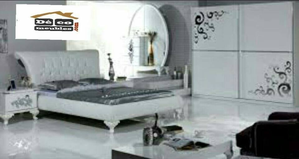 Beautiful chambre a coucher blanche tunisie pictures for Meuble design chambre a coucher