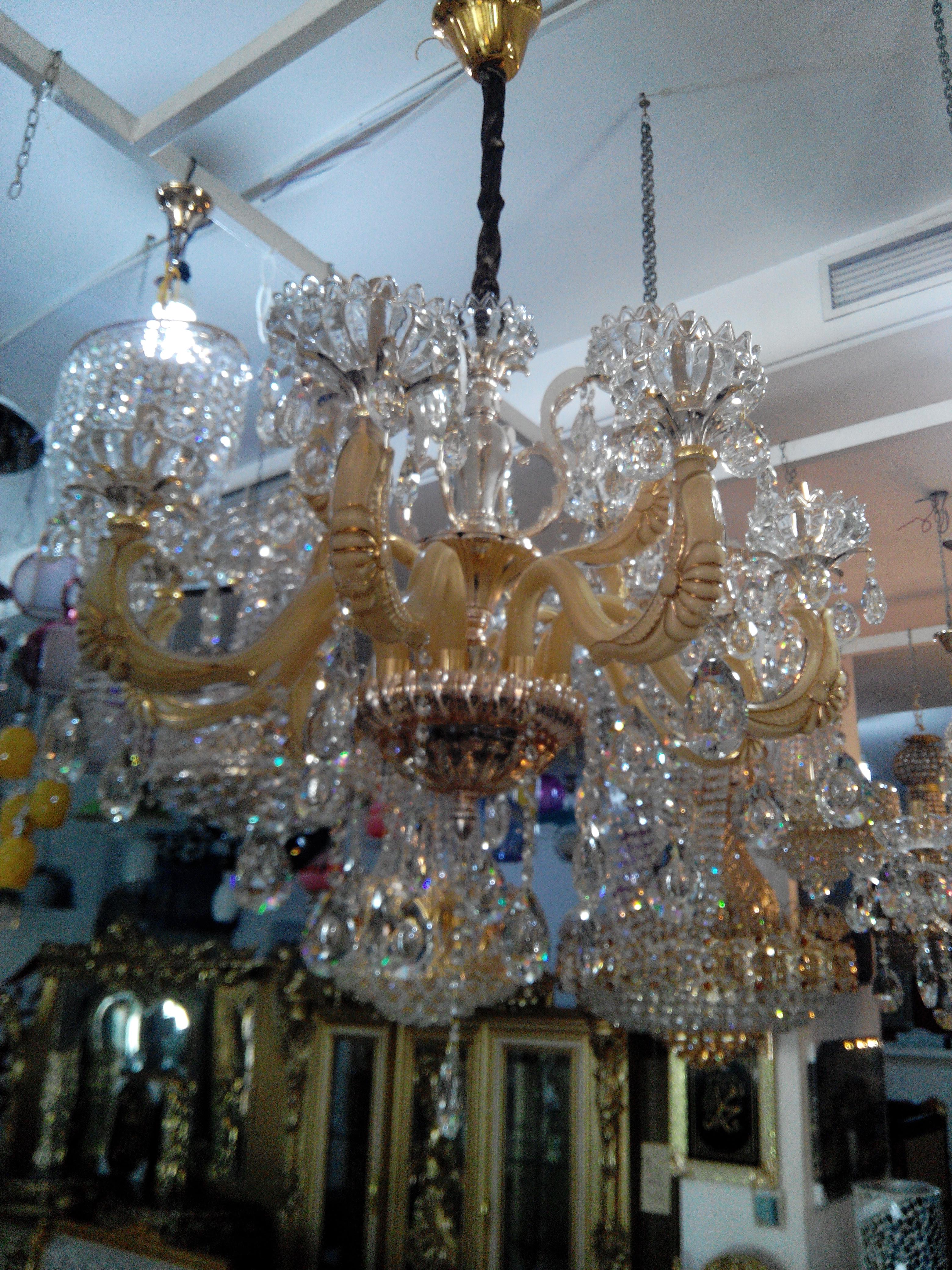 lustre 12f murano cristal tch que meubles et d coration tunisie. Black Bedroom Furniture Sets. Home Design Ideas