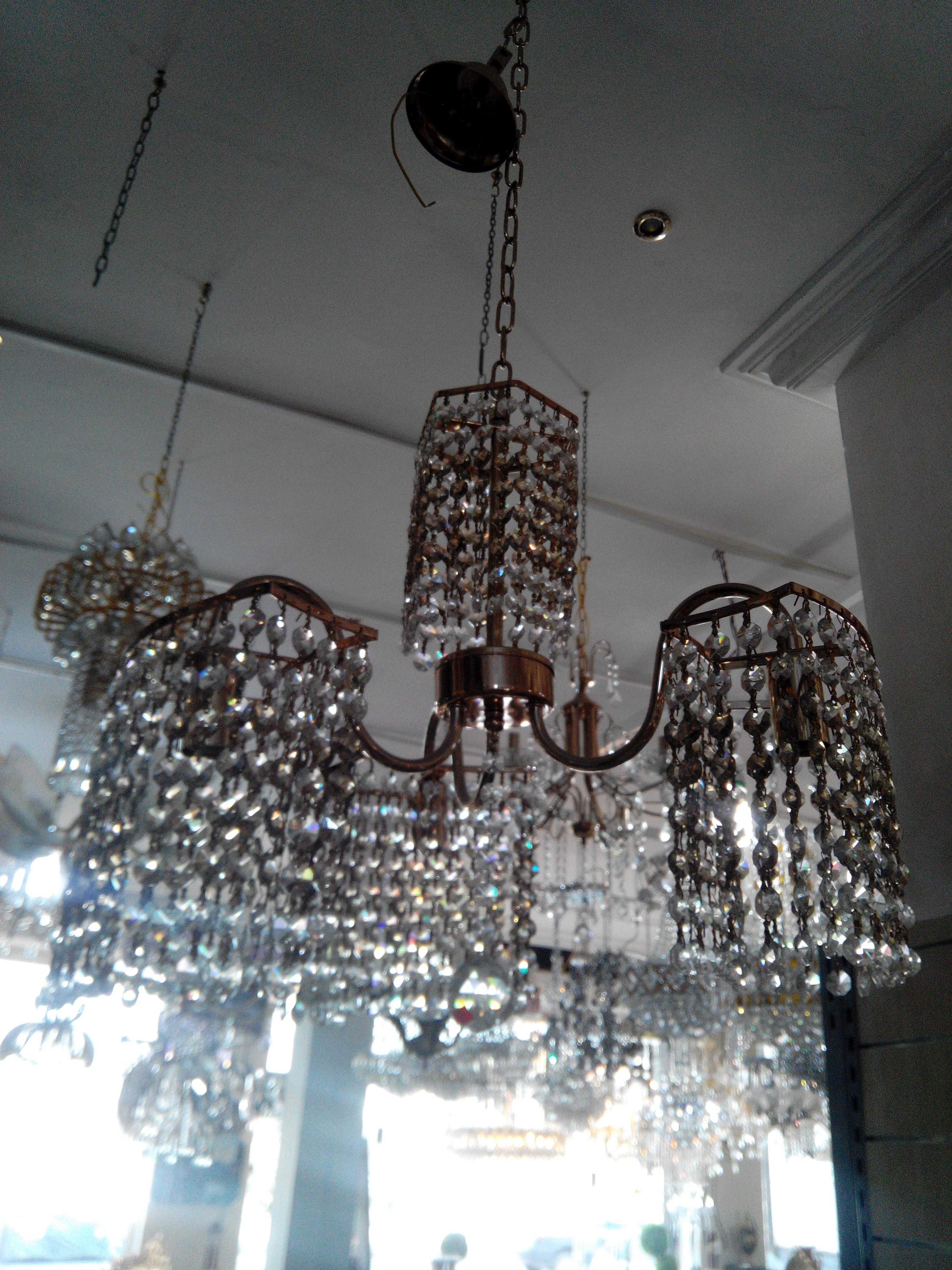 Lustre 3f cristal italien meubles et d coration tunisie - Produit nettoyage lustre cristal ...