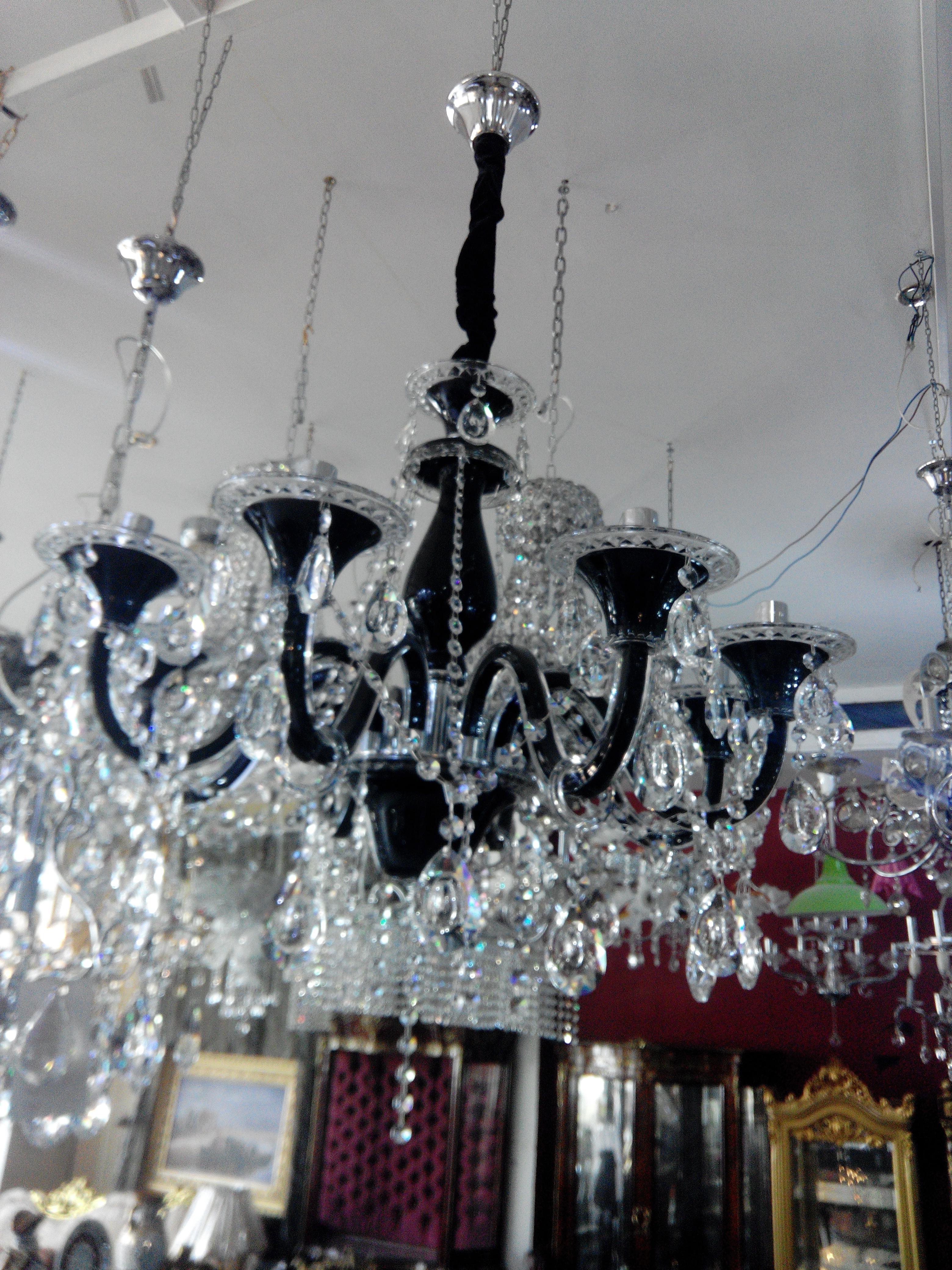 Lustre 6f murano cristal tch que meubles et d coration tunisie - Produit nettoyage lustre cristal ...