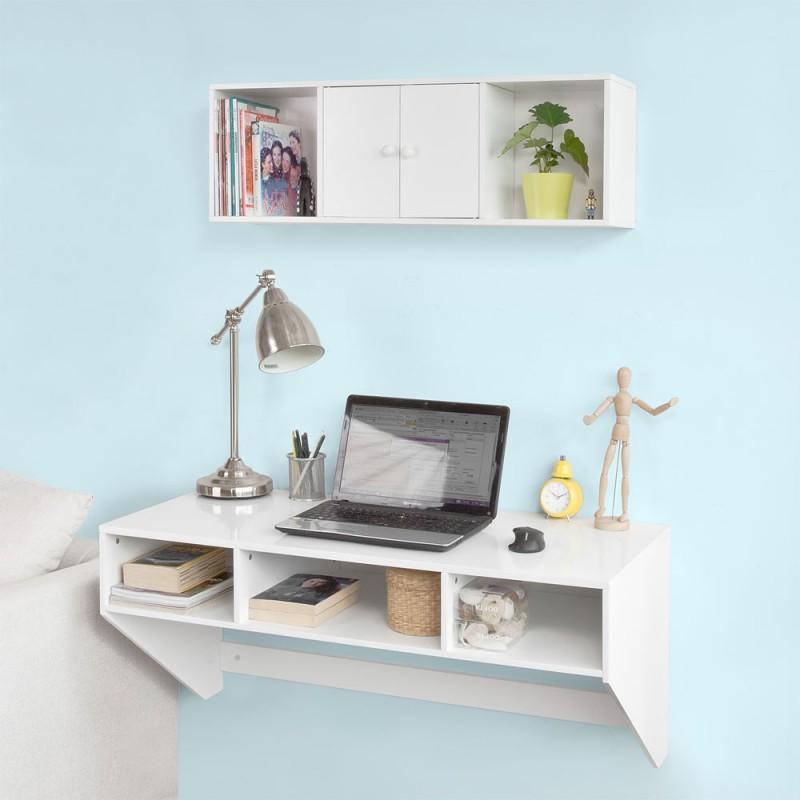 pack table ou bureau murale et tag re de rangement meubles et d coration tunisie. Black Bedroom Furniture Sets. Home Design Ideas