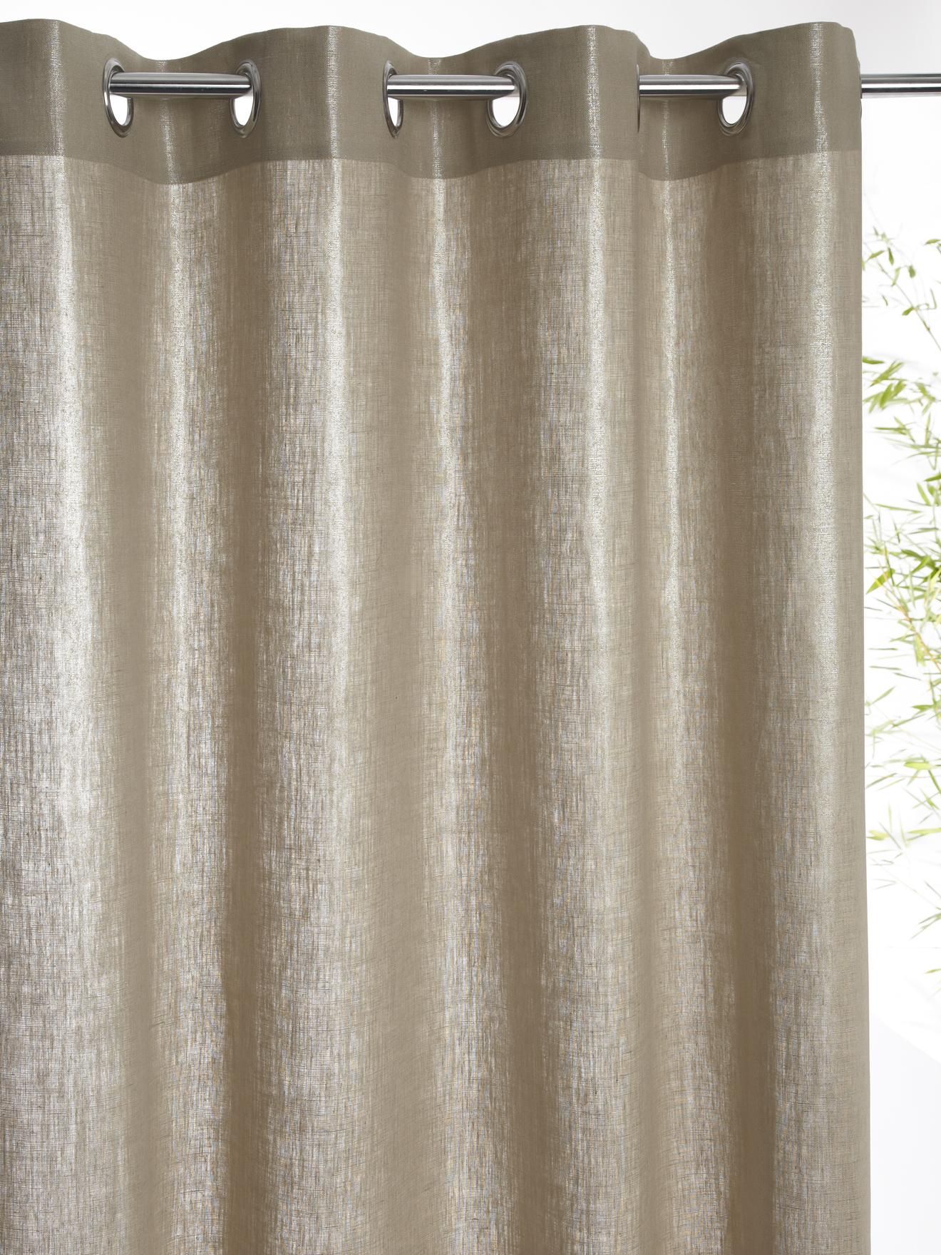 rideau tissu avec des illet rond meubles et d coration tunisie. Black Bedroom Furniture Sets. Home Design Ideas