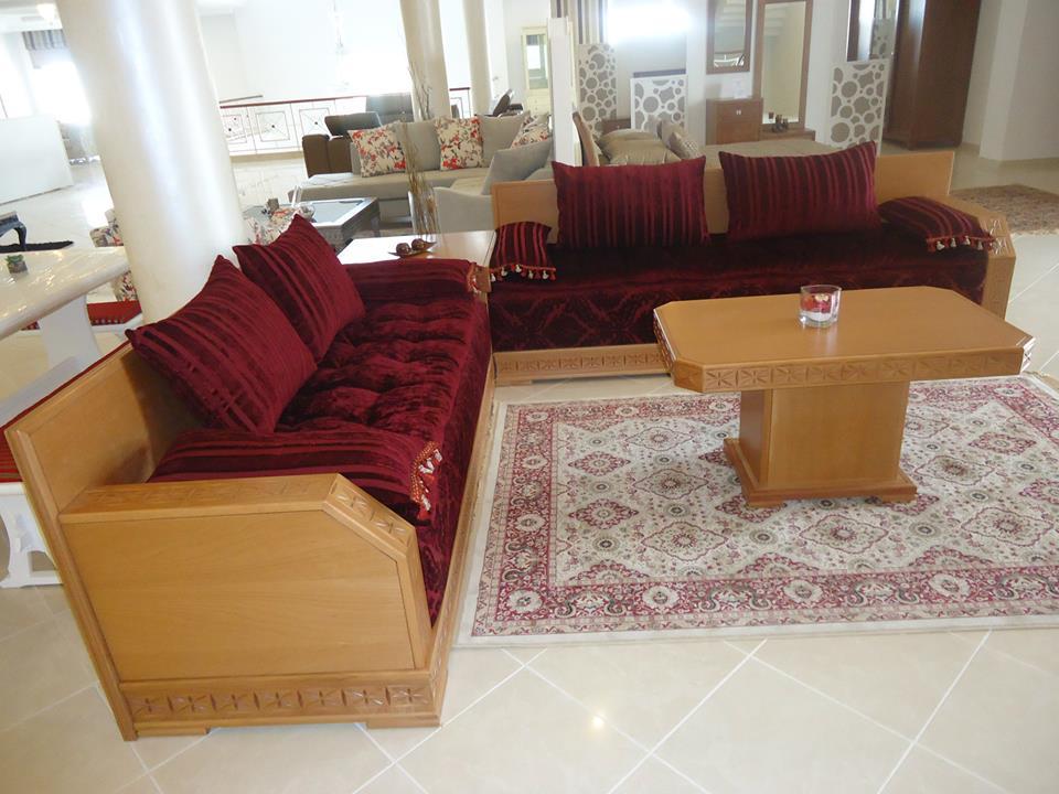 Awesome salon en bois tunisie ideas for Meuble salon